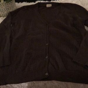 LL bean cashmere cotton blend cardigan size xl
